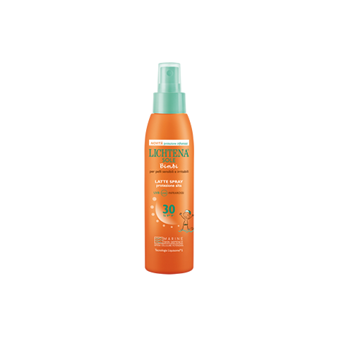 Lichtena Latte Spray Bimbi SPF 30, flacone spray da 200ml