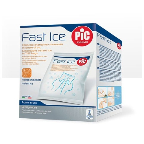 PIC Fast Ice, box con due buste monouso 13,5x18 cm