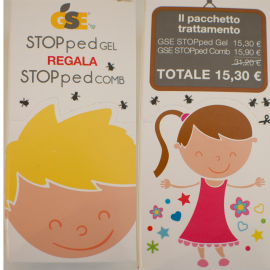 GSE STOPped Gel regala StoppedCom, Flacone da 50ml con pettine in regalo