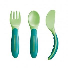 MAM Baby's Cutlery Set Posate 6+, Confezione da 3 pezzi