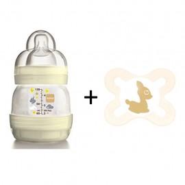 MAM First Bottle Biberon 130ml + Ciuccio Silicone Start Nanò 0-2 mesi