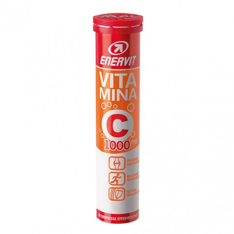 Enervit Vitamina C 1000 mg, 20 compresse effervescenti gusto agrumi