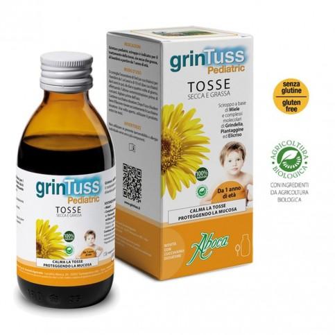 Aboca Grintuss Pediatric Sciroppo, Flacone da 180 g con cucchiaino dosatore