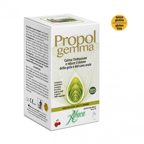 Aboca Propolgemma - Spray No Alcool Adulti E Bambini, Flacone da 30 ml