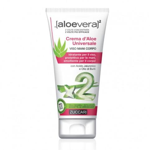 Zuccari Crema d'Aloe Universale Viso Mani Corpo, tubo da 75ml o flacone da 300ml