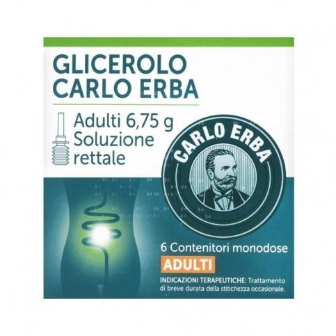 Carlo Erba Glicerolo Adulti Microclismi, 6 contenitori da 6.75g