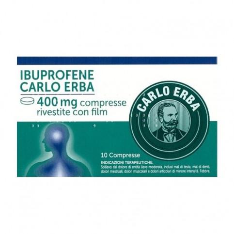 Carlo Erba Ibuprofene 400mg, confezione da 10 compresse