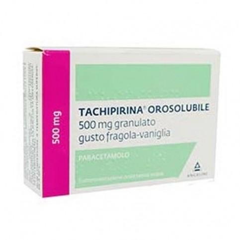 Tachipirina Oroslubile 500mg, 12 bustine gusto vaniglia e fragola