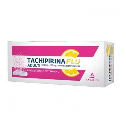 Tachipirinaflu Adulti, 12 compresse effervescenti 500+200mg