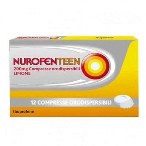 Nurofenteen 200 mg, 12 compresse orodispersibili gusto limone