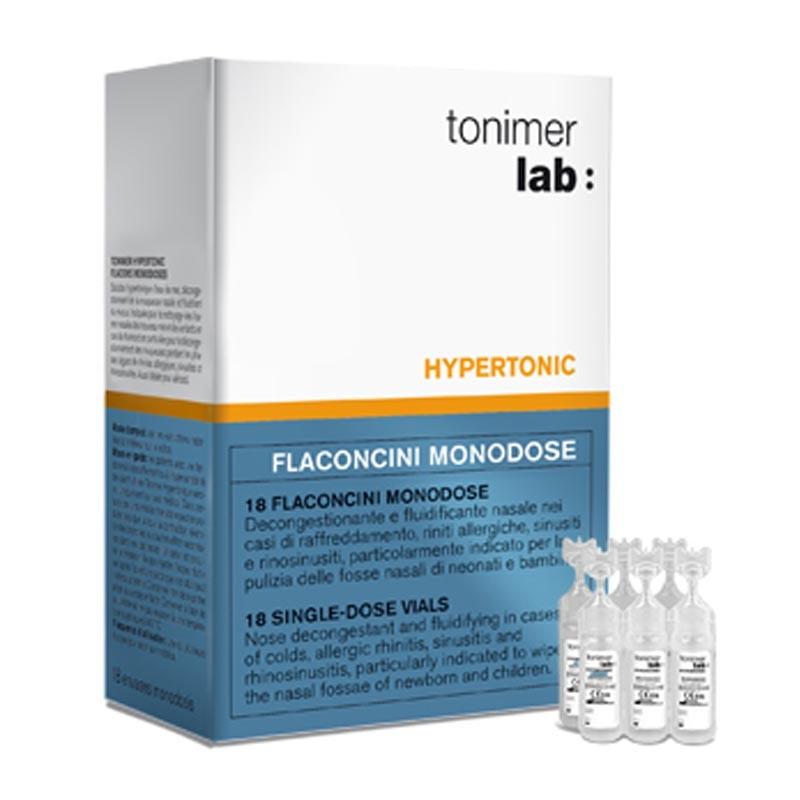 Tonimer Hypertonic Flaconcini Monodose, 18 flaconcini da 5ml