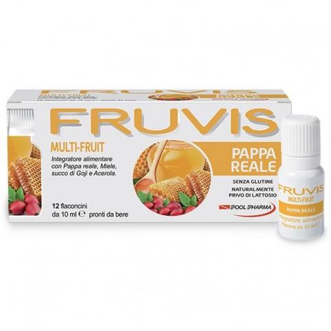 FRUVIS Multi-Fruit Pappa Reale, 12 flaconcini monodose pronti da bere