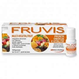 Fruvis Multi-Vegetalfruit Pronta energia e vitalità, 12 flaconcini monodose pronti da bere