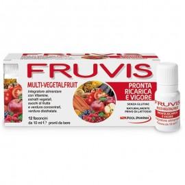 Fruvis Multi-Vegetalfruit Pronta Ricarica e Vigore, 12 flaconcini monodose pronti da bere