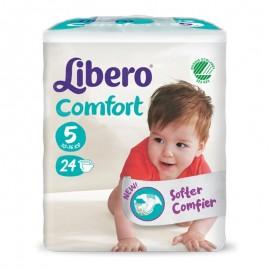 LIBERO COMFORT Taglia 5, Busta con 24 pannolini