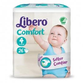 LIBERO COMFORT Taglia 4, busta da 26 pannolini