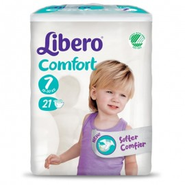 LIBERO COMFORT Taglia 7, busta da 21 pannolini