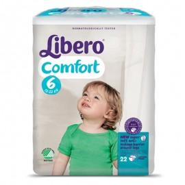 LIBERO COMFORT Taglia 6, Busta con 22 pannolini