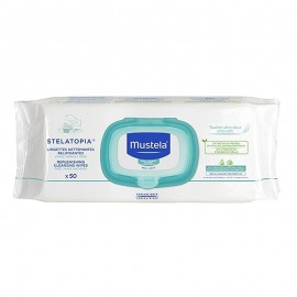 Mustela Salviette Detergenti Relipidanti Stelatopia 50 pz