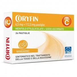 Coryfin 6,5 + 112,5 mg pastiglie (mandarino e mentolo), 24 pastiglie orosolubili