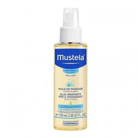 Mustela Olio Idratante per il Massaggio, flacone spray da 100 ml