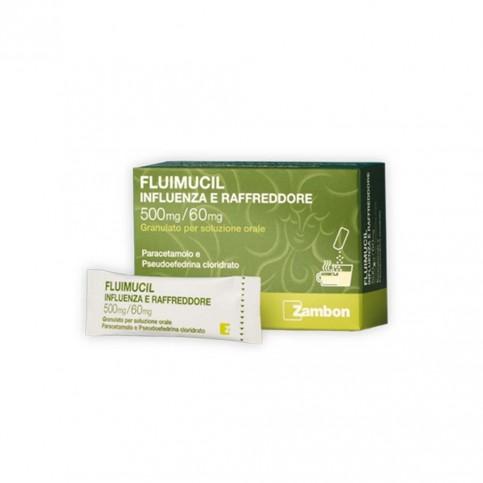 Fluimucil Influenza E Raffreddore, 8 bustine monodose