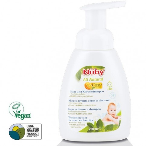 Nuby Bagnoschiuma e shampoo 0+ mesi – 250 ml