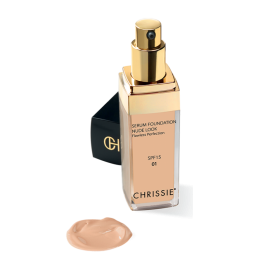 Chrissie Siero Fondotinta Nude Light sand Look SPF15, 30ml