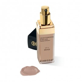 Chrissie Siero Fondotinta Nude Look Bronze SPF15, 30ml