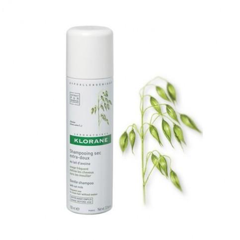 Klorane Shampoo Secco Extra Delicato Al Latte D'Avena, Spray 150ml