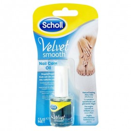 Scholl Velvet Smooth Nail Care Oil, bottiglia da 7,5 ml con pennello