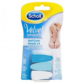 Scholl Velvet Smooth Nail Care ricambi lime per Kit Elettronico, 3 pezzi