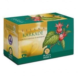 Planta Medica Tisana Karkadè (Hibiscus sabdariffa) con olio essenziale di Mandarino, 20 bustine