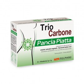 Pool Pharma Trio Carbone Pancia Piatta, 10+10 bustine