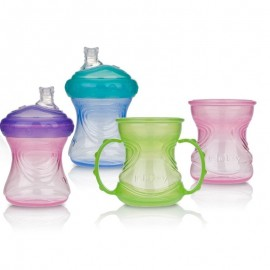 Nuby Tazza Educativa 4-N-1 Convert-a-cup, 6-24 mesi 240ml
