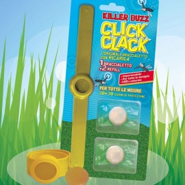 Click Clack antizanzara, 1 bracciale più due ricariche