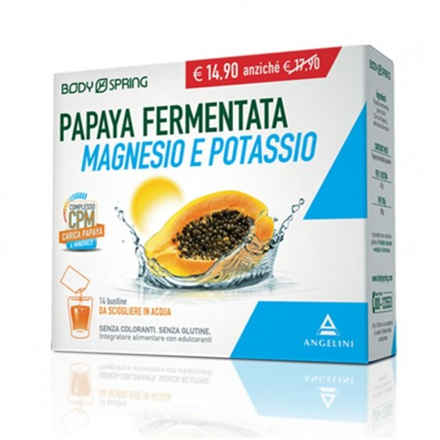 BodySpring Papaya Fermentata Magnesio e Potassio, 14 bustine