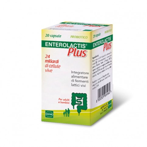 Enterolactis Plus, flacone da 20 compresse
