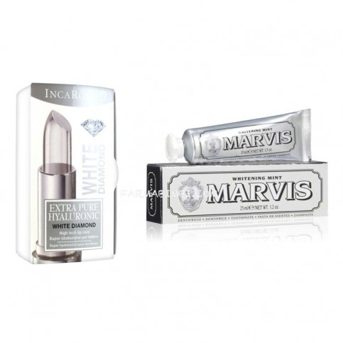 EPH WHITE DIAMOND, Stick labbra  4ml + Marvis Whitening Mint