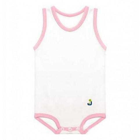 Body JBIMBO Cotone bianco e rosa