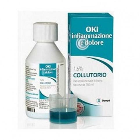OKi infiammazione e dolore 1,6% collutorio, flacone da 150 ml