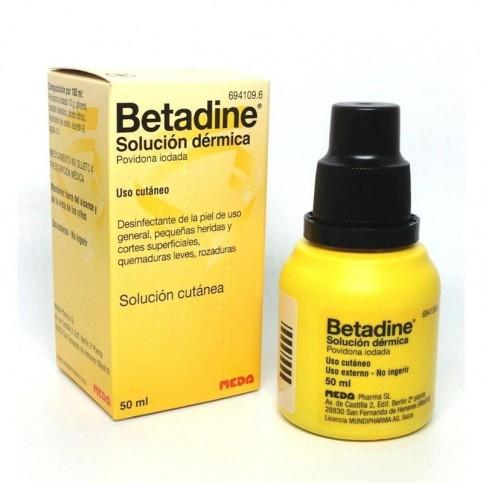 Betadine 10% soluzione cutanea, flacone tascabile da 50ml