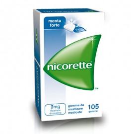 Nicorette Gomme Menta Forte, confezione da 105 gomme da 2 mg