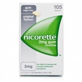 Nicorette Gomme Gusto Classico, confezione da 105 gomme da 2 mg