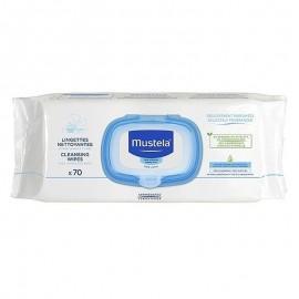 Mustela Salviette Detergenti Profumate, pacco apri-chiudi da 70 salviette