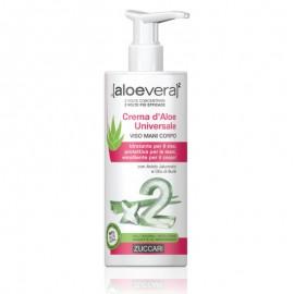 Zuccari Aloevera2 Crema d'Aloe Universale Viso Mani Corpo, flacone dispenser 300 ml