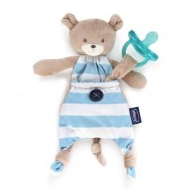 Chicco Pocket Friend 0m+ Orsetto, Azzurro