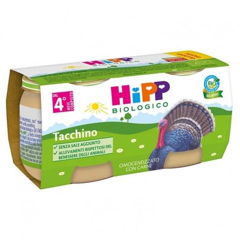 Hipp Bio Omogeneizzato Tacchino, 2 vasetti da 80 gr