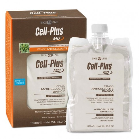 Cell-Plus MD Fango Anticellulite Bianco, 1 kg