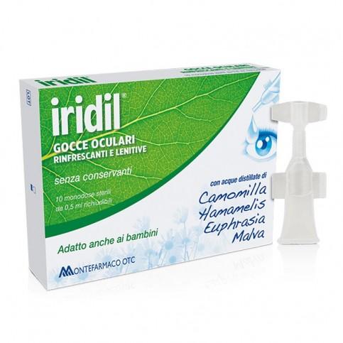 Iridil Gocce Oculari, 10 ampolle monodose sterili richiudibili